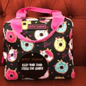 Betsey Johnson Insulated Lunch Tote Black